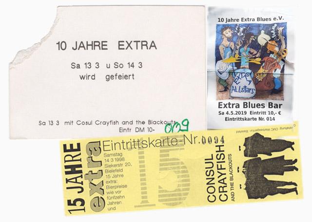 Jubiläums Eintrittskarten aus 30 Jahrzehnten
